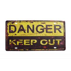 """Blechschild """"DANGER KEEP..."""