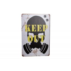 """Blechschild """"KEEP OUT -..."""