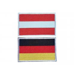 Patch Flaggen mit Klett...